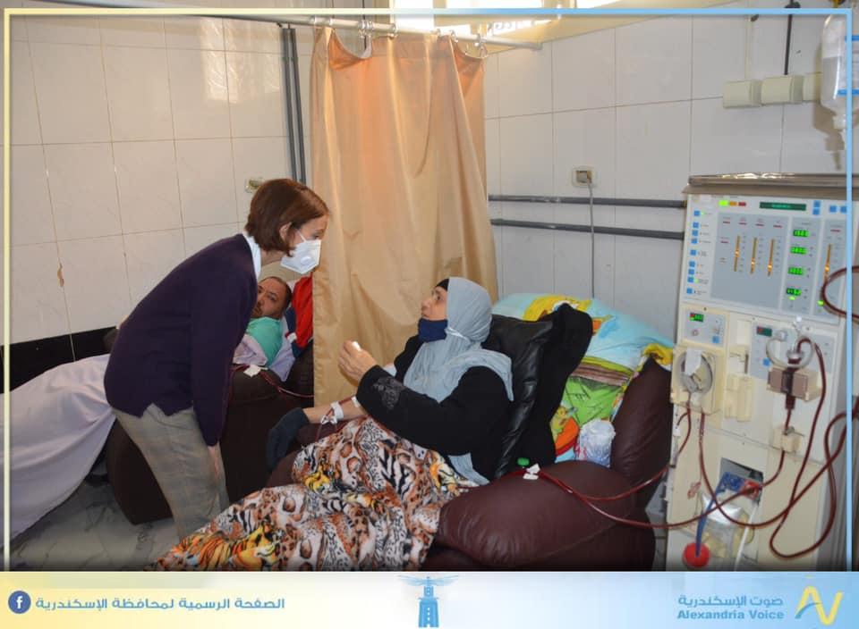 ائب محافظ الإسكندرية يتفقد مستشفى رأس التين