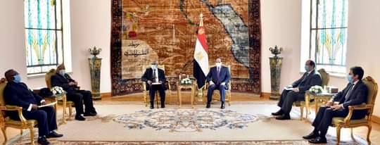 السيسي يستقبل الزعيم الأفريقي سام نيوما